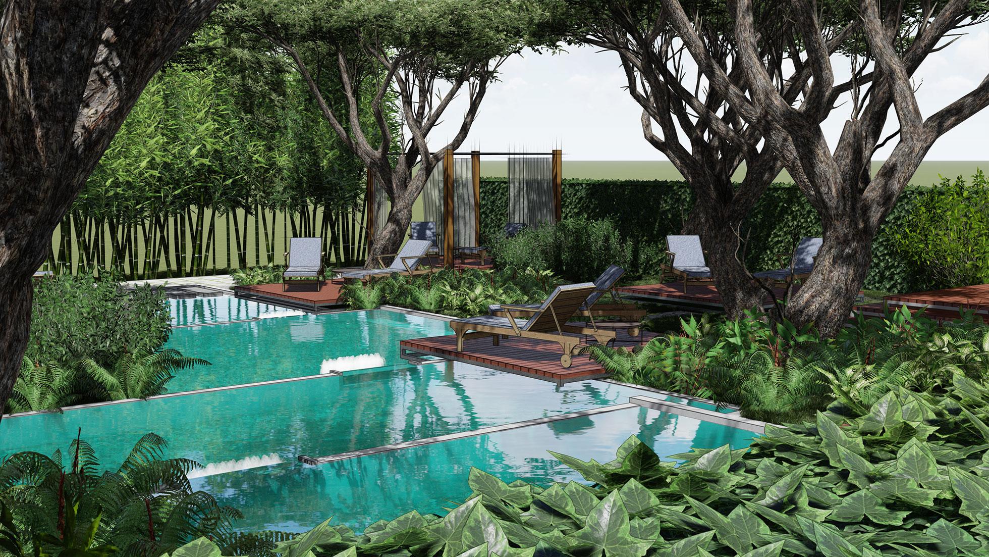 Krajobrazna arhitektura, landscape architecture, garden design, wellness garden, opop studio, željko radišić