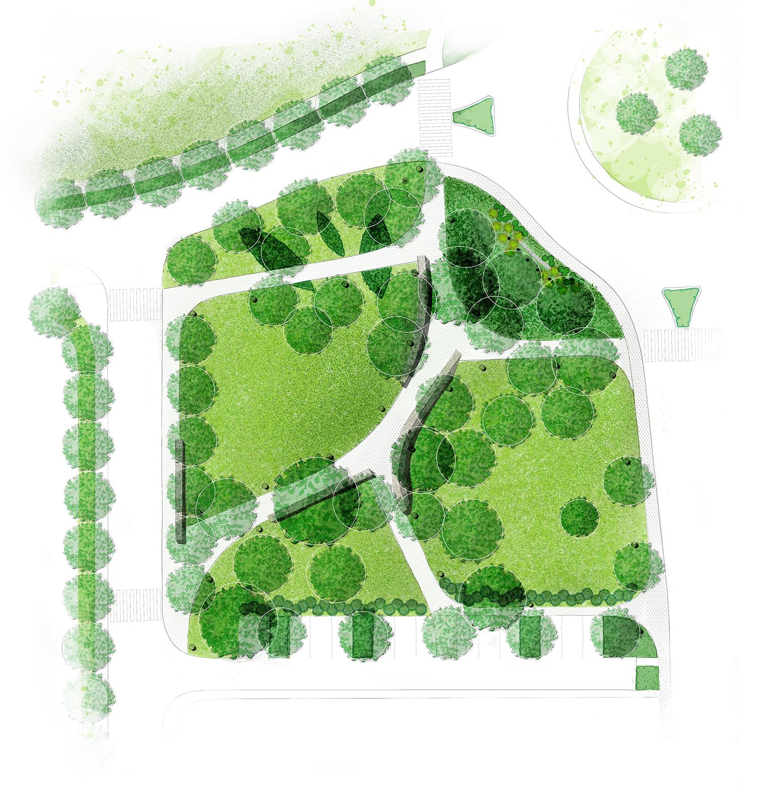 Krajobrazni projekt uređenja parka na ulazu u Funtanu, Krajobazni arhitekt Željko Radišić iz OpOp studio, Projekt krajobraznog uređenja